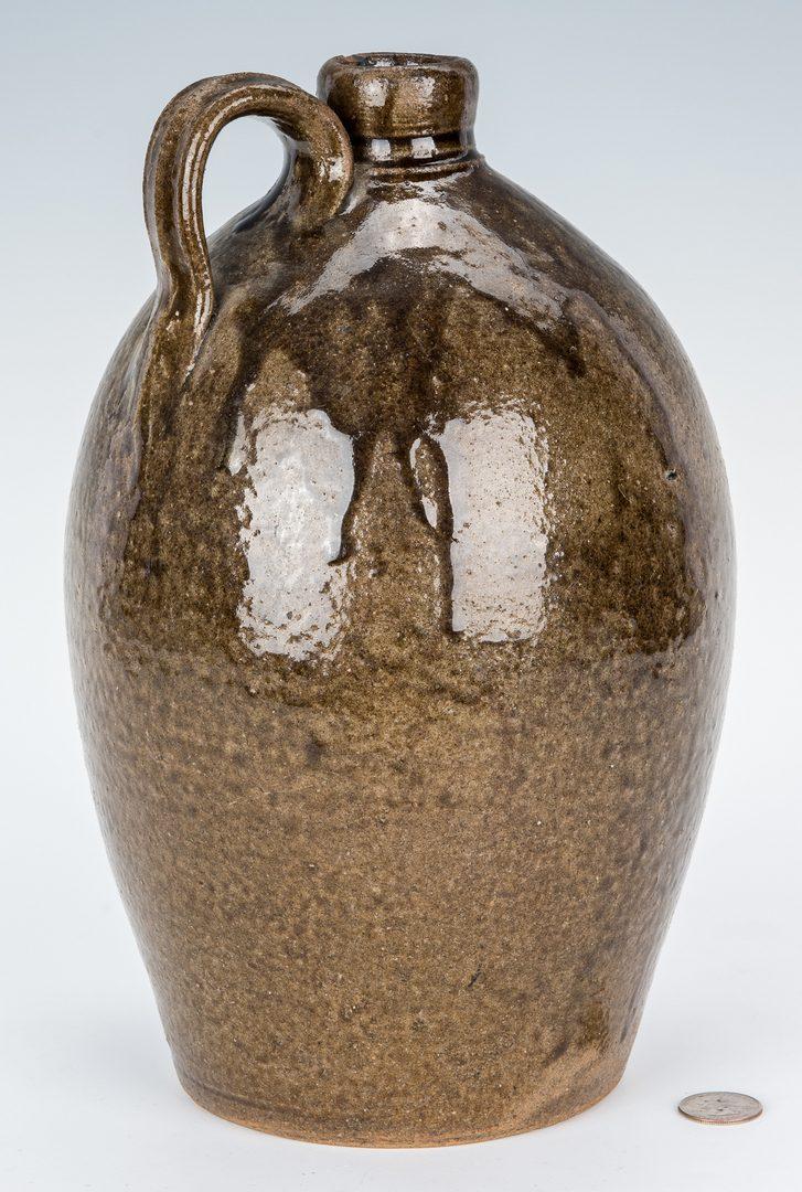 Lot 158: NC James Franklin Seagle Pottery Stoneware Jug, JFS Stamped