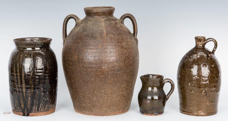 Lot 159: 4 NC Stoneware Pottery Items