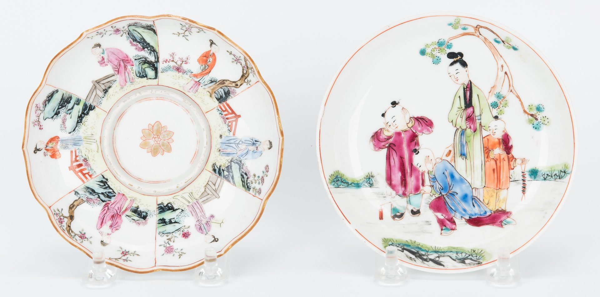 Lot 15: 10 Chinese Porcelain Items, incl. Famille Verte/Famille Rose