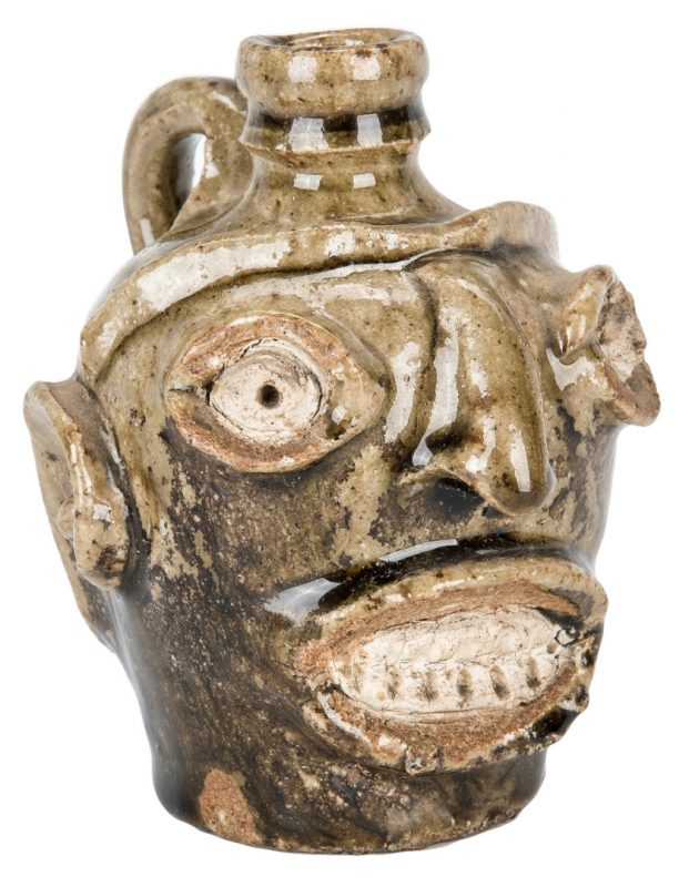 Lot 161: Edgefield SC Pottery Face Jug, Thomas Davies Factory
