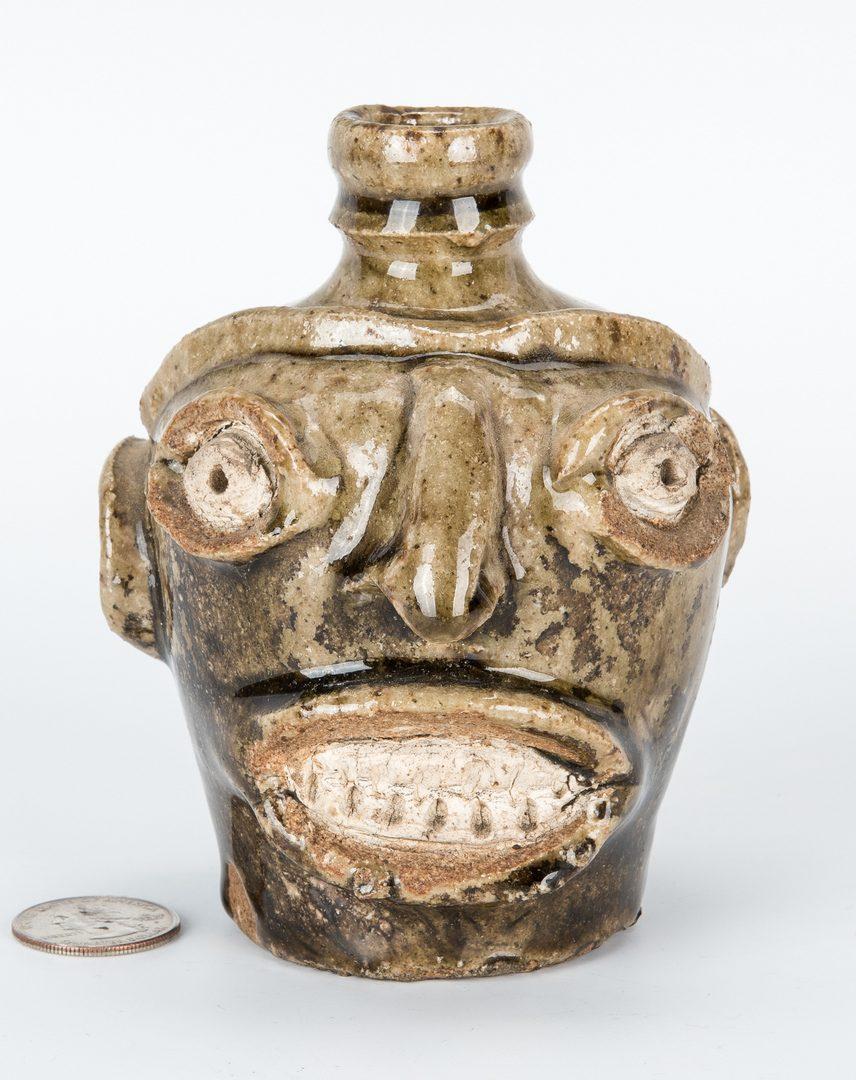 Lot 161: Edgefield SC Pottery Face Jug, Thomas Davies Factory