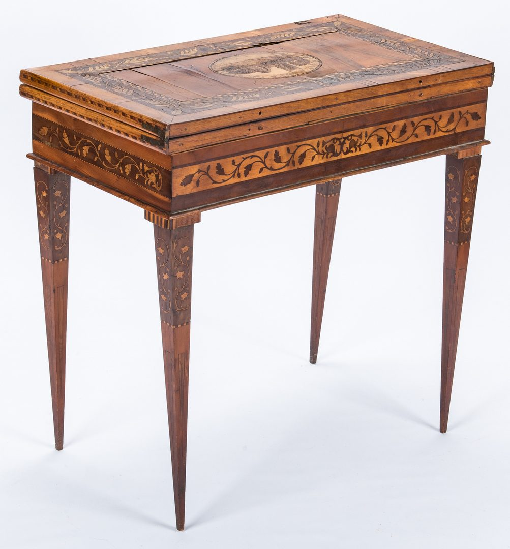 Lot 163: Killearney, Ireland Inlaid Game Table
