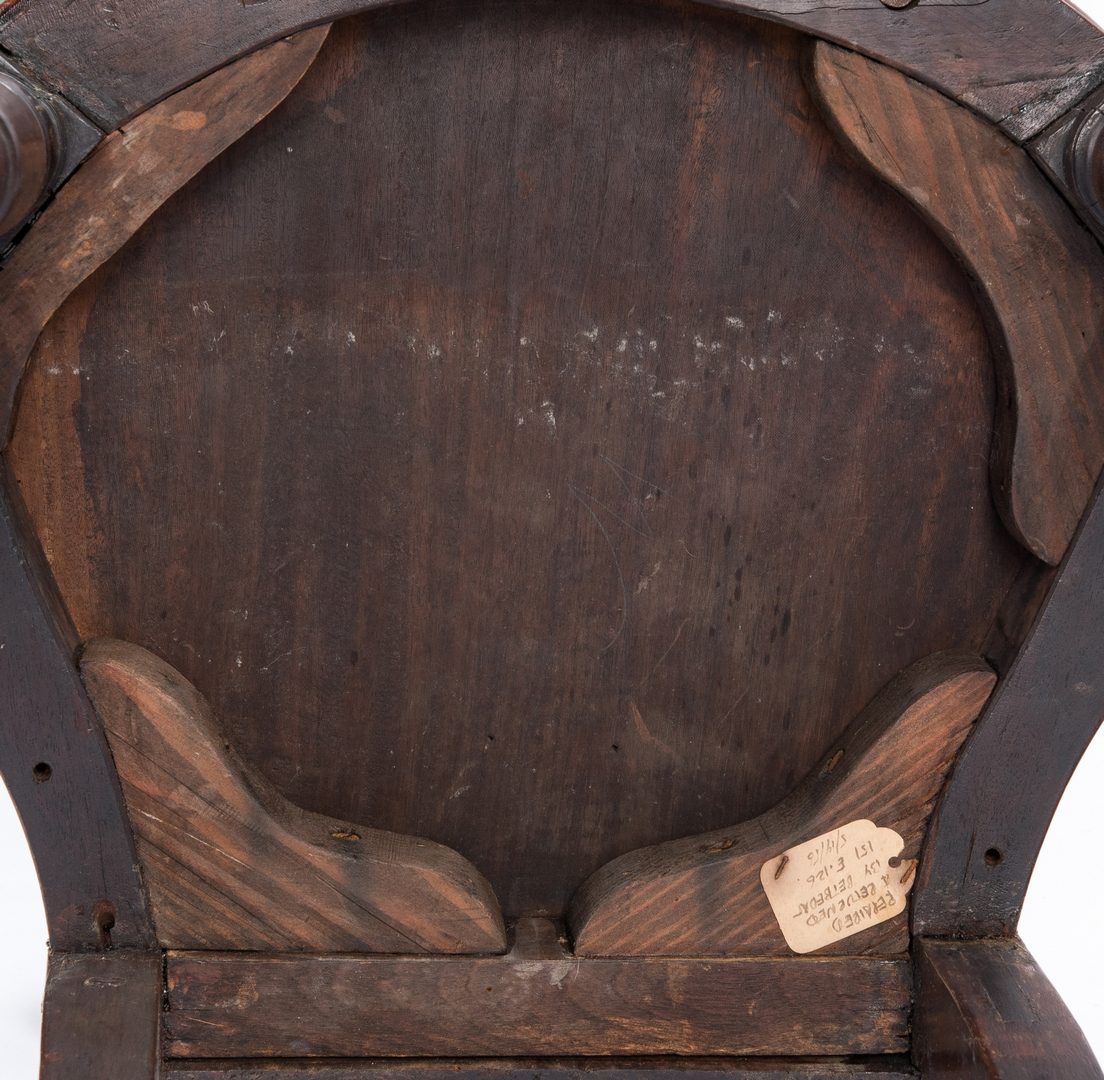 Lot 167: 4 Regency Mahogany Hall Chairs