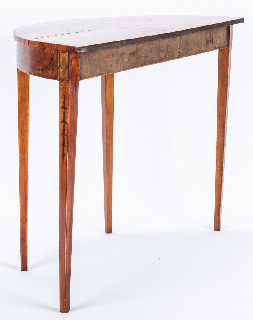Lot 169: George III Inlaid Demilune Table