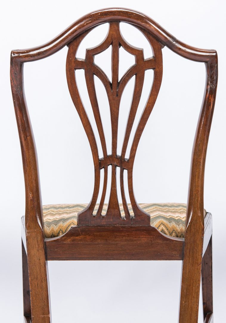 Lot 170: Set of 6 Hepplewhite Period Side Chairs