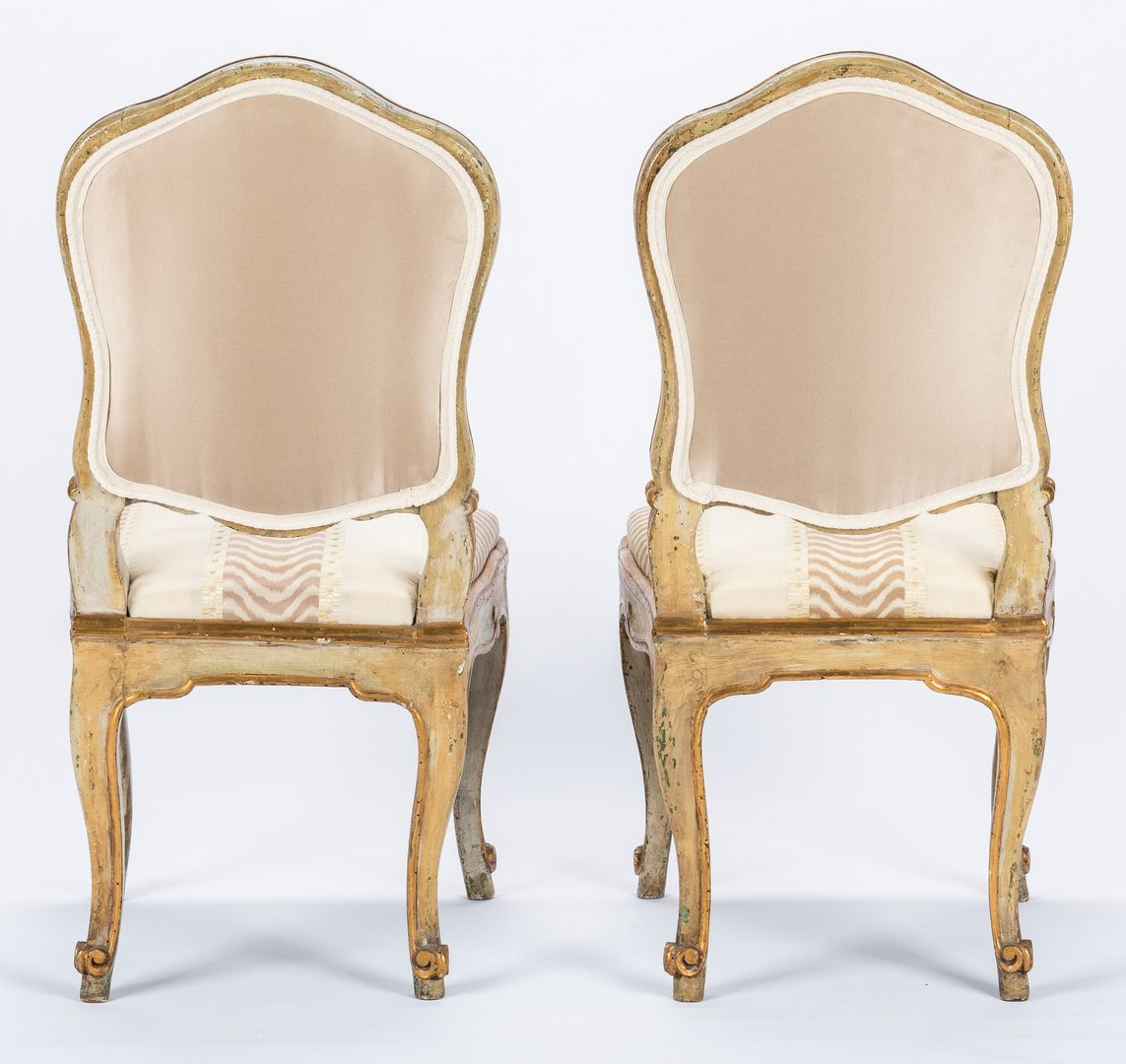 Lot 172: 8 Continental Dining Chairs; 2 Armchairs
