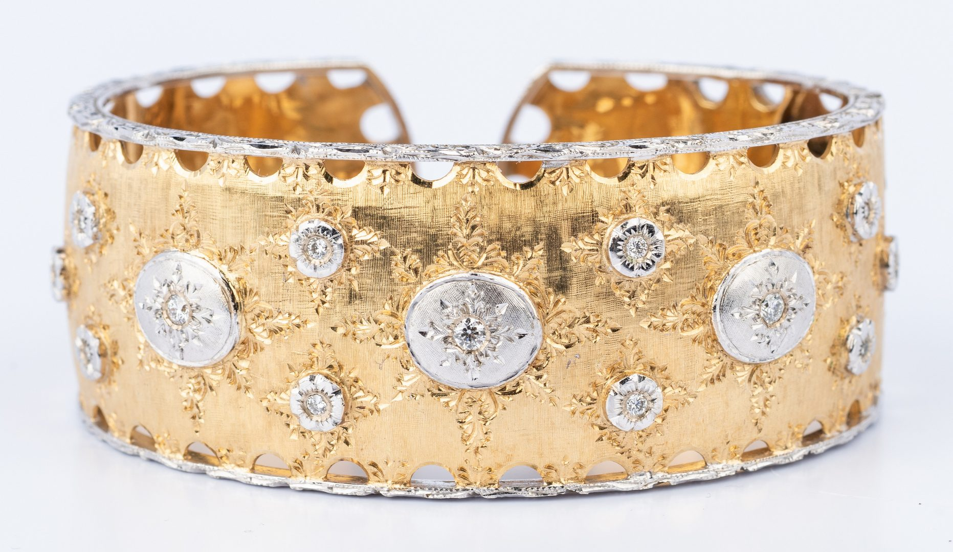 Lot 175: Italian 18K Diamond Bracelet