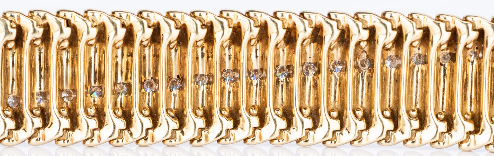 Lot 182: 14k Jose Hess Bracelet with Diamonds