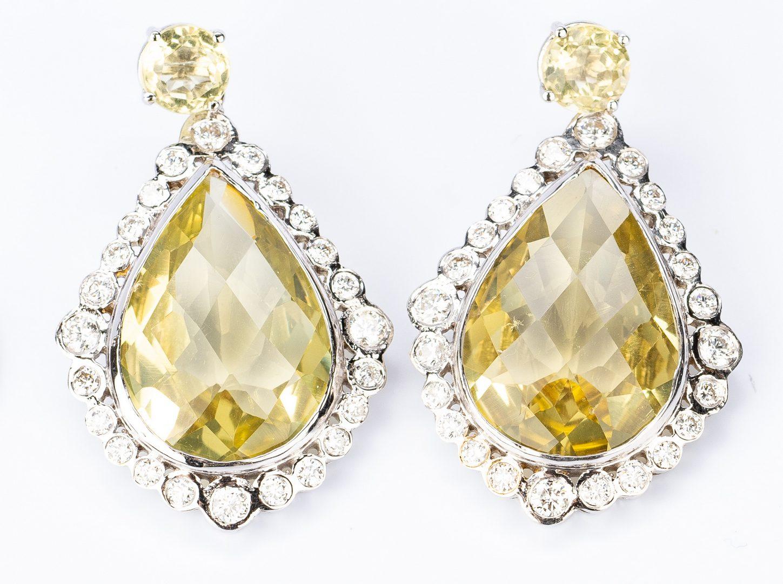 Lot 184: 18/14K Prasiolite, Diamond Semi-Parure