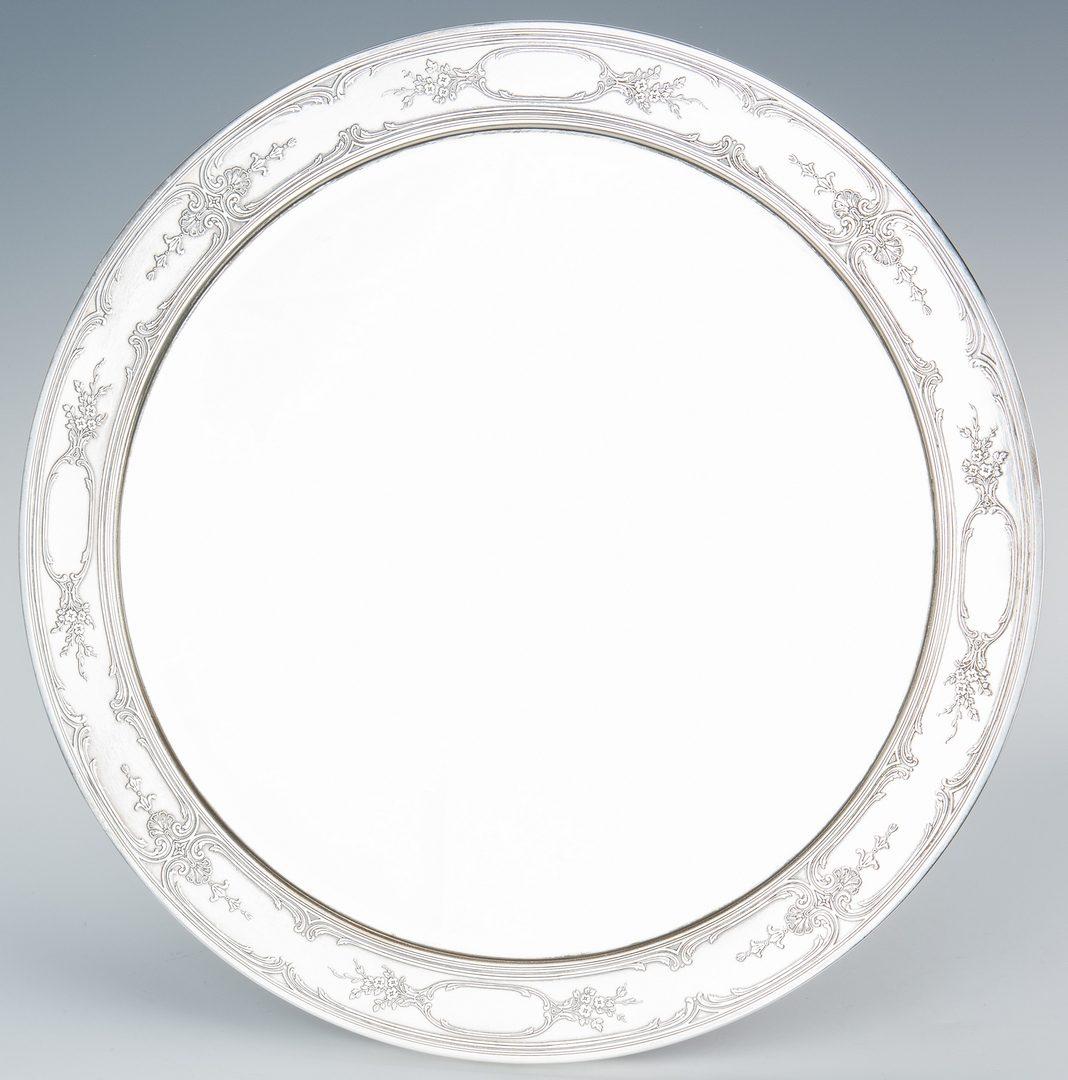 "Lot 195: Tiffany Sterling Silver Dressing Mirror, 17"" Diam."