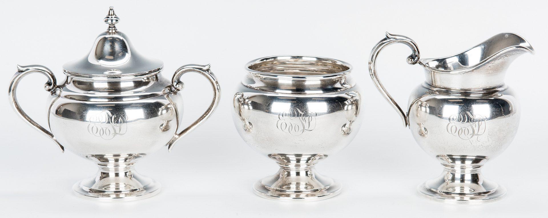 Lot 197: Gorham 5-Pc. Sterling Tea Service, Puritan Pattern
