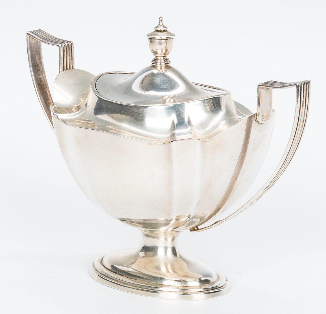 Lot 199: 4-Piece Gorham Plymouth Tea Set, Jennings Coffee Pot, 5 items
