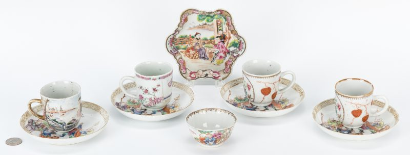 Lot 19: 10 Famille Rose Items inc. Immortal Decorated