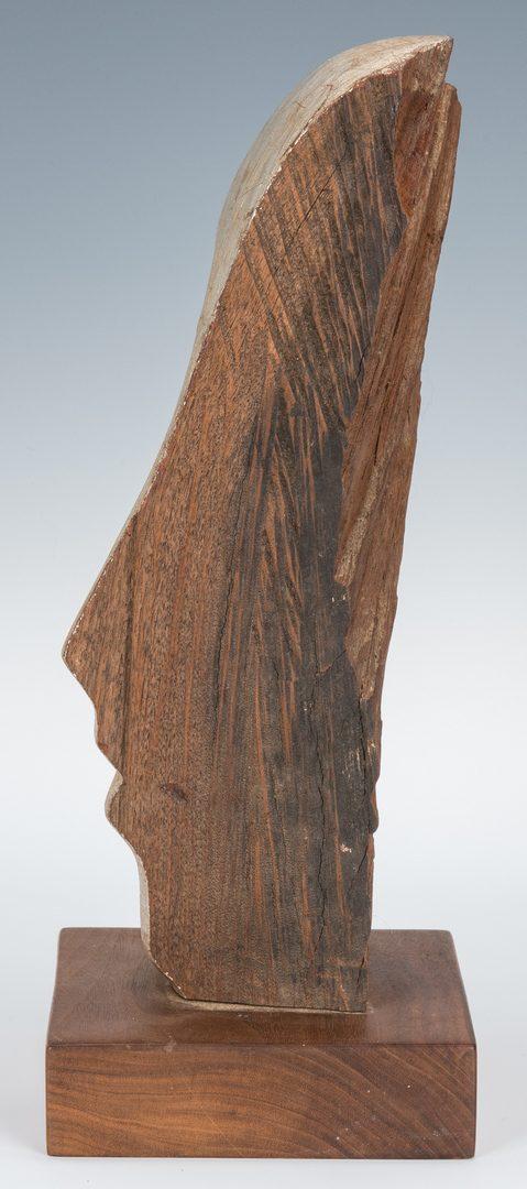 Lot 201: Olen Bryant Carved Wood Face Sculpture