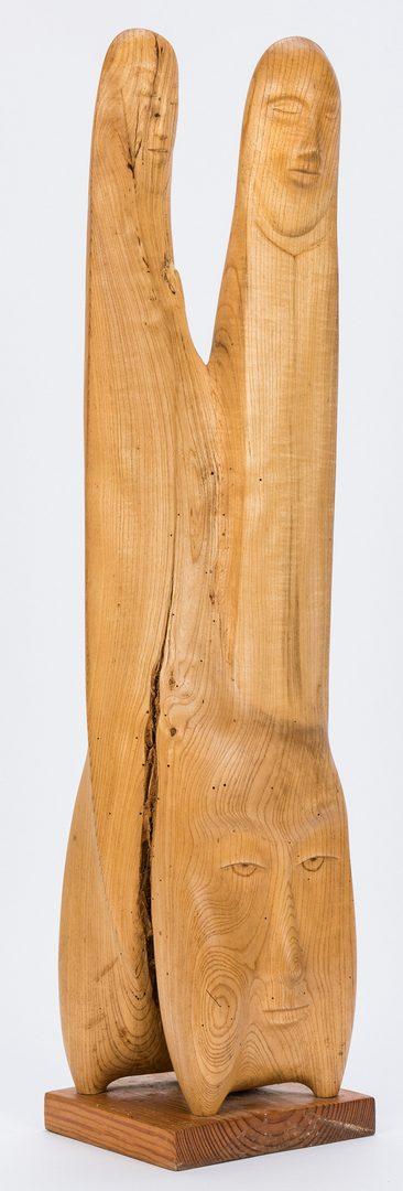 Lot 202: Olen Bryant Wood Figural Sculpture