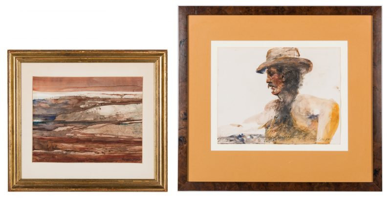 Lot 205: 2 Carl Sublett Watercolor Paintings