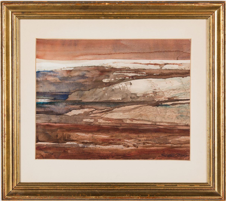 Lot 205: 2 Carl Sublett Watercolor Paintings