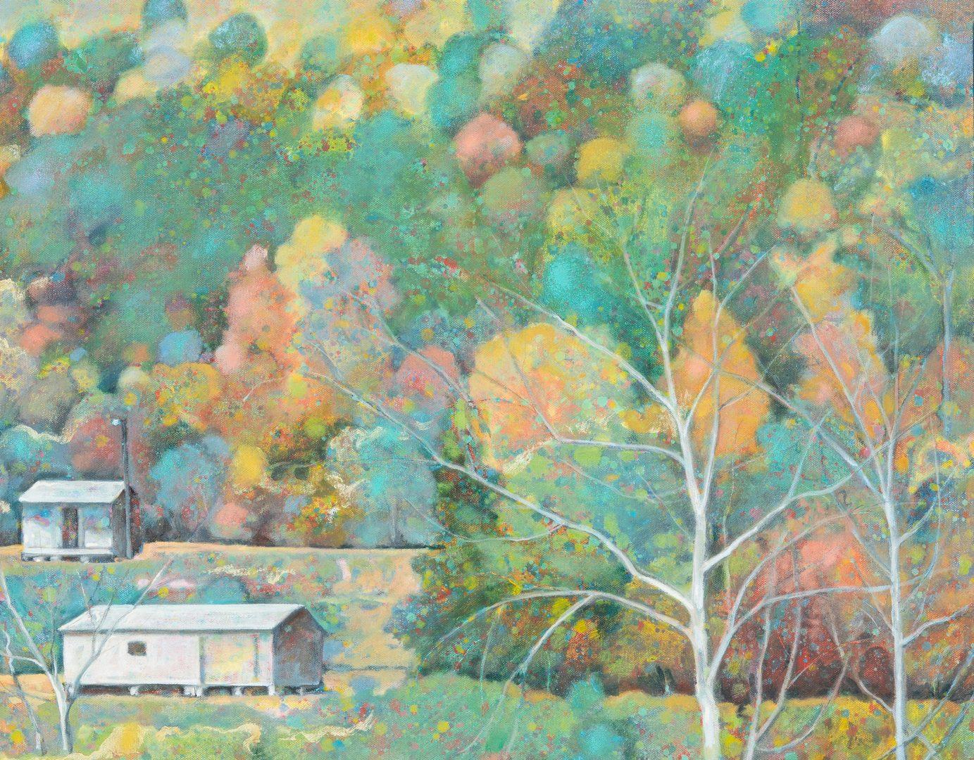 Lot 207: Edward Kellogg Oil Painting, River Houses