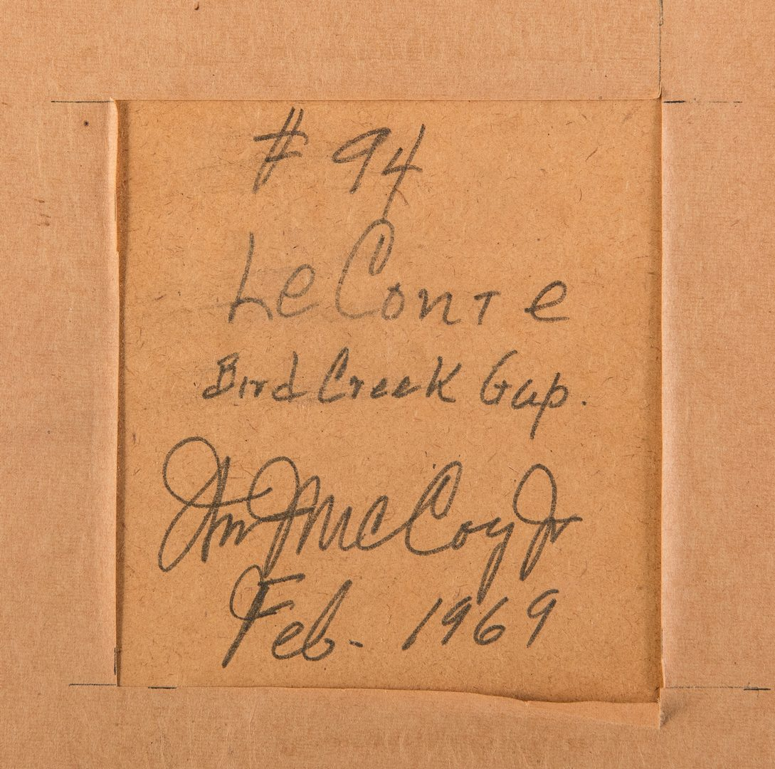 Lot 208: William McCoy, Jr. O/B, LeConte