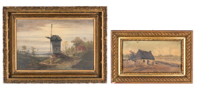 Lot 210: 2 TN Thomas Campbell European O/B Paintings