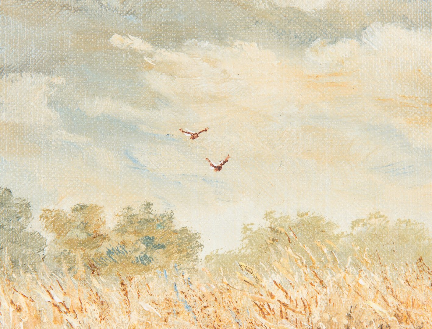 Lot 211: Marion Cook O/C Landscape with Birds