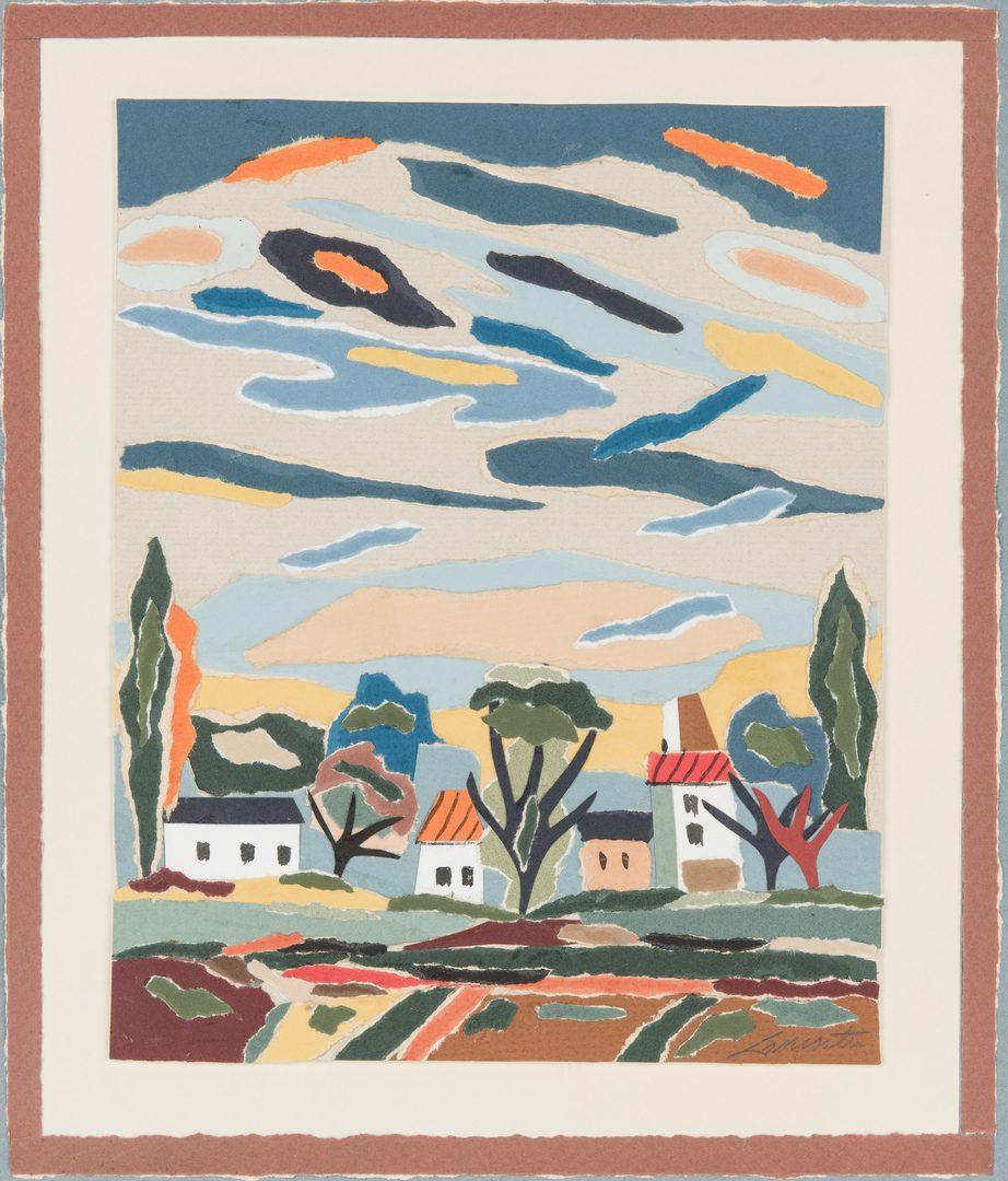 Lot 213: Paul Lancaster Paper Collage
