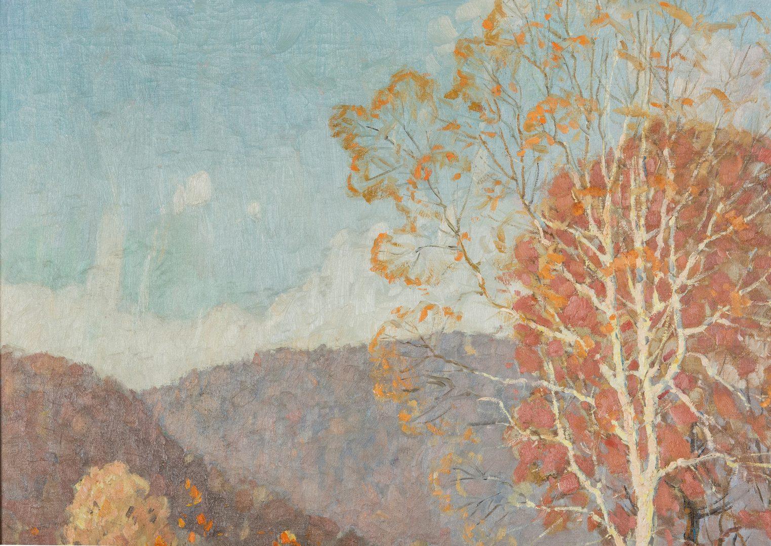 Lot 215: John Spelman O/C, Fall Landscape Scene