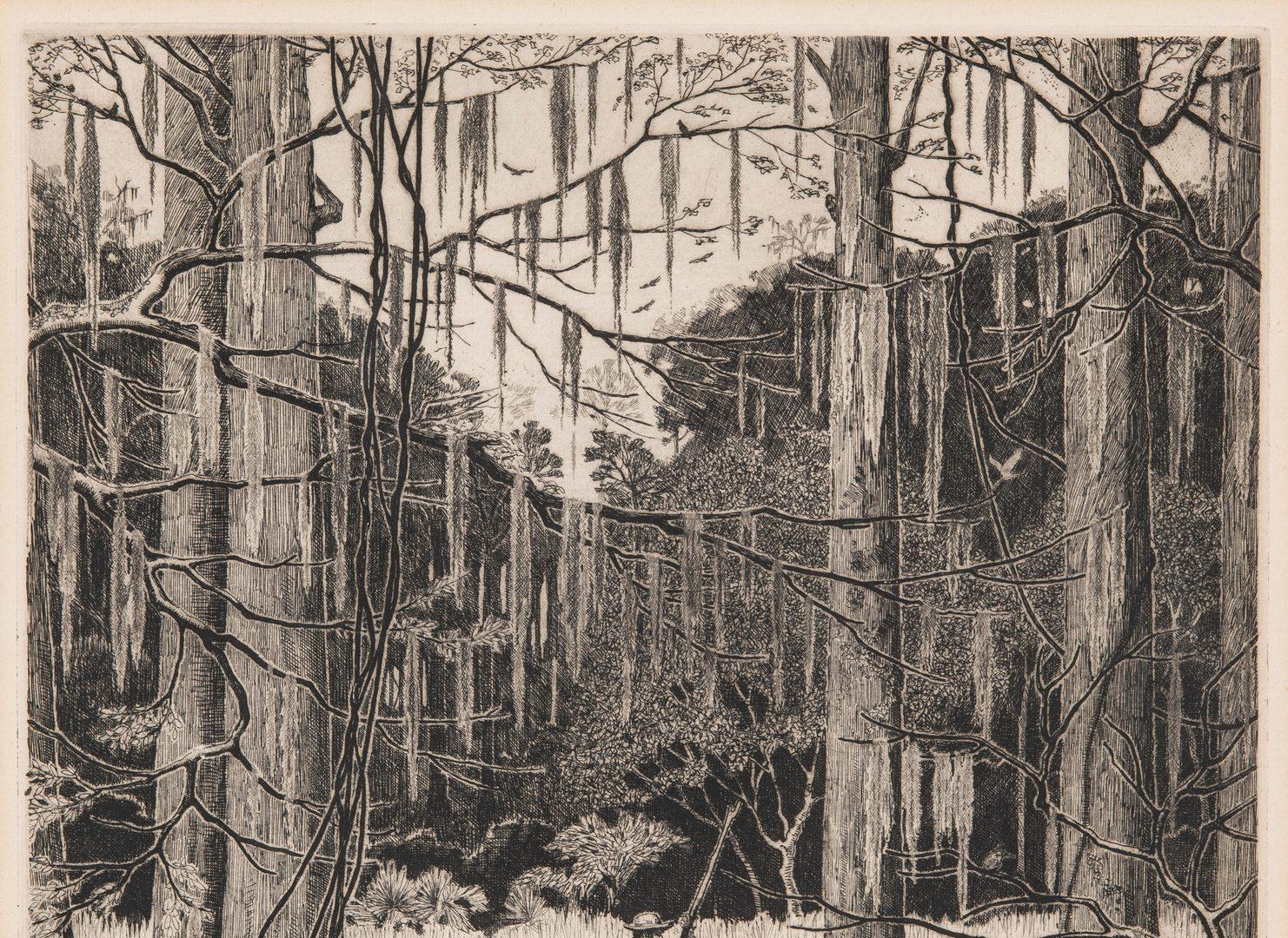 Lot 217: Morris Hobbs Etching, Atchafalaya Swamp