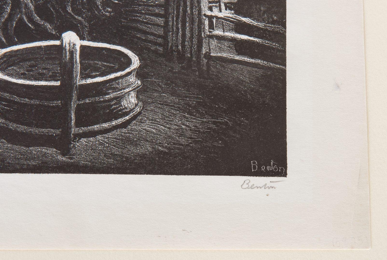 Lot 218: Thomas Hart Benton Lithograph, The Corral
