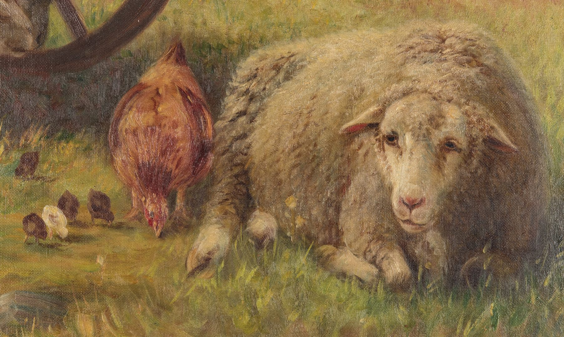 Lot 221: John Monks O/C, Pastoral Scene