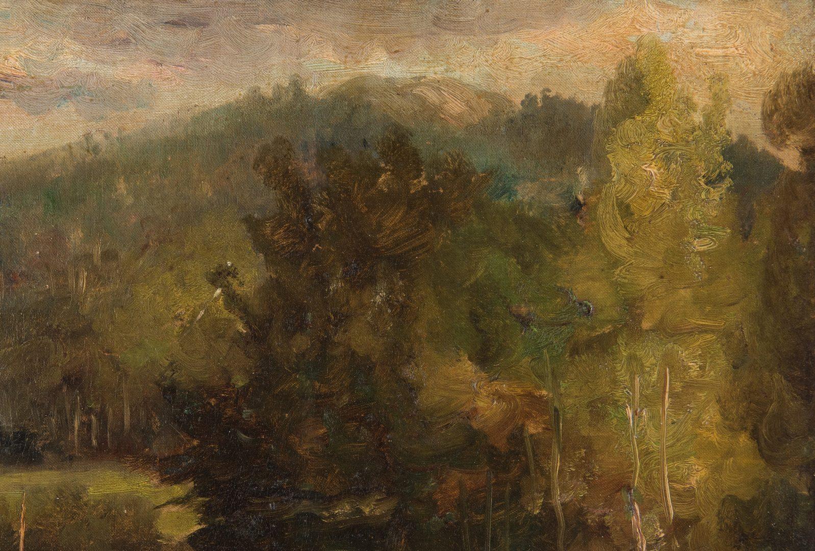 Lot 222: Arthur Parton Oil on Board Landscape