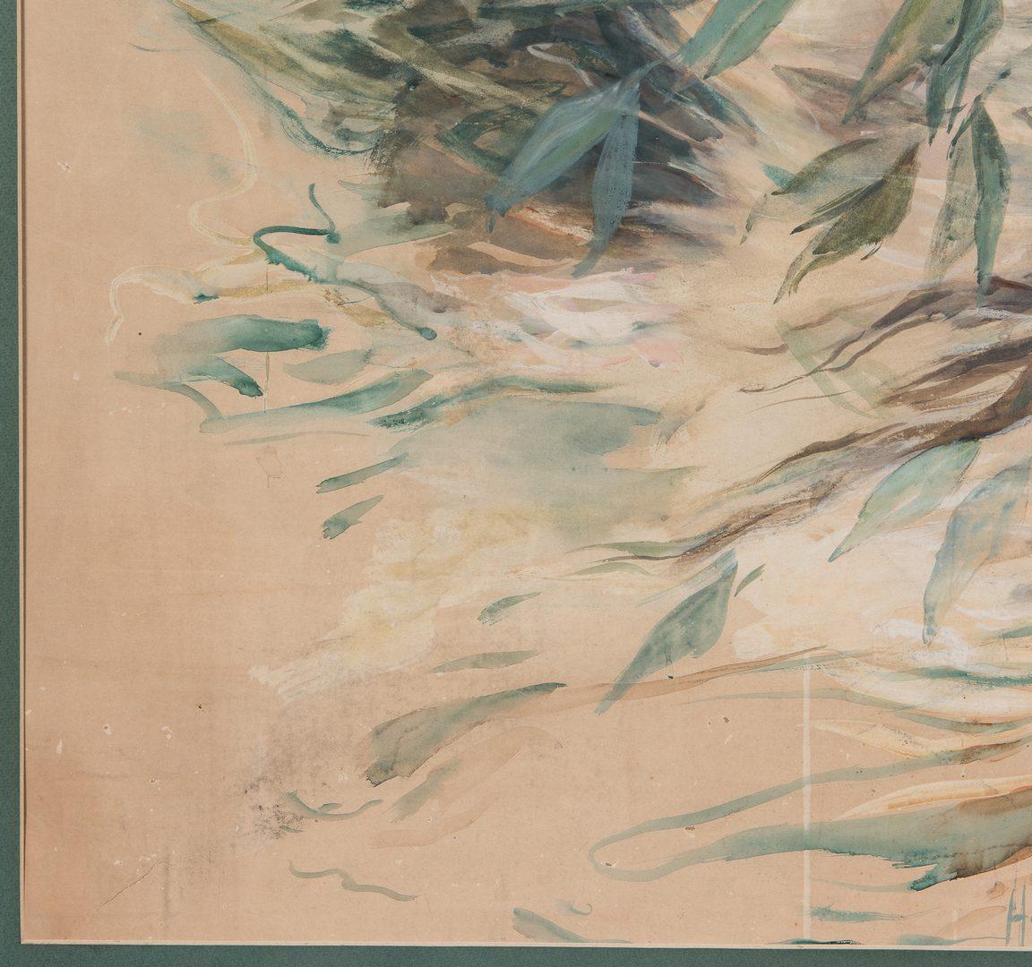 """Lot 223: Howard Chandler Christy Watercolor Illustration, """"Eve"""""""