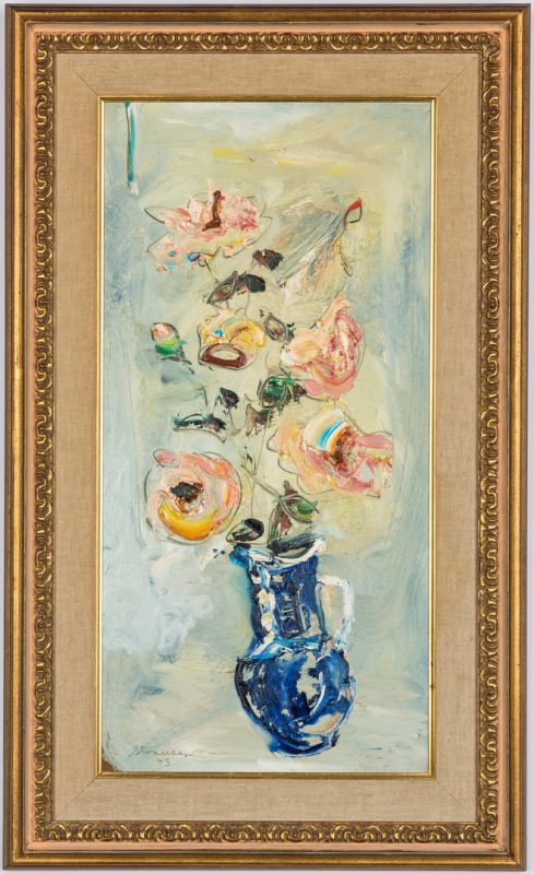 Lot 229: Sterling Strauser floral painting