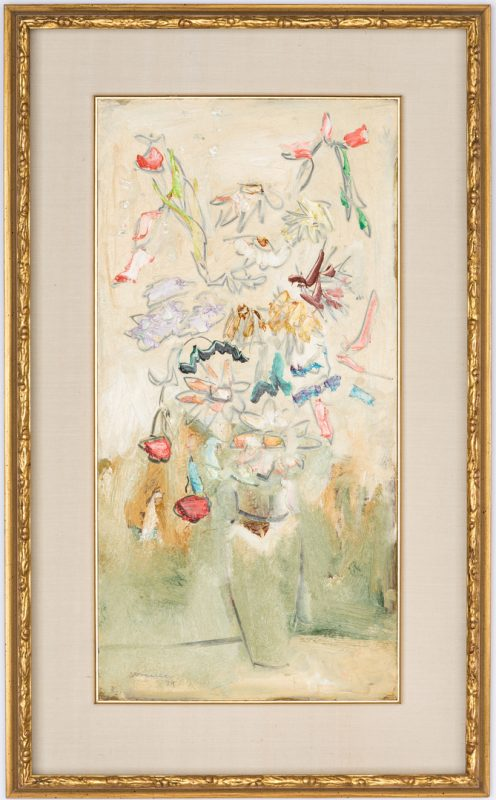 Lot 230: Sterling Strauser O/B, Still Life Floral Painting