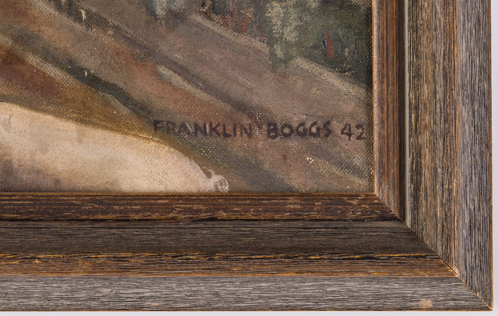 Lot 231: Franklin Boggs O/C Country Landscape