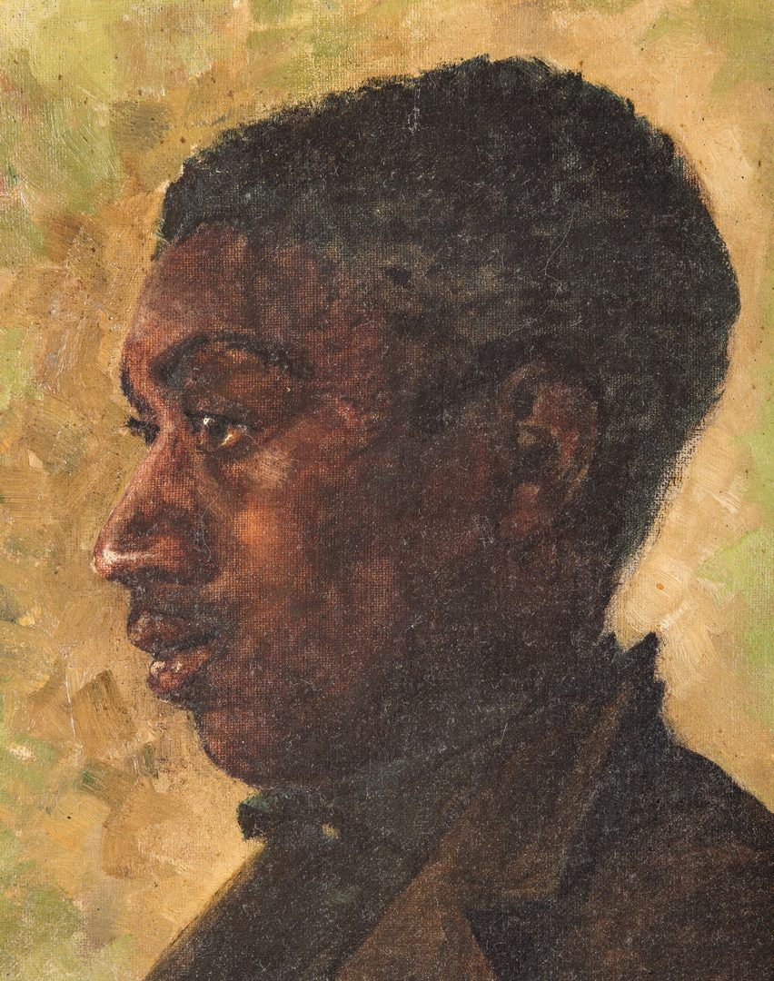 Lot 232: Signed O/C Portrait of African American Youth