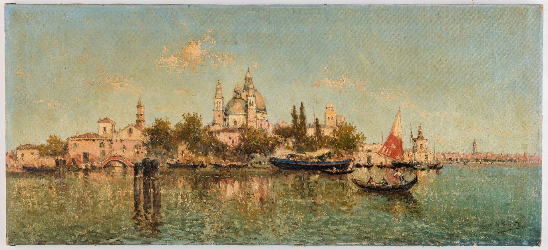 Lot 235: Nicholas Briganti O/C Venice Canal Scene