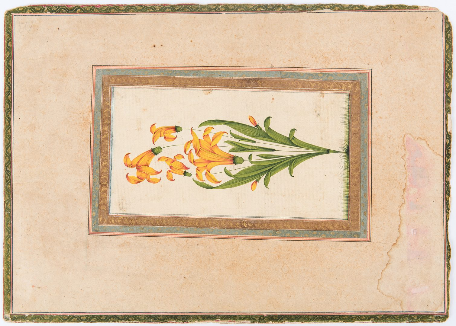Lot 237: Kishangarh School Temple Painting, Double Sided