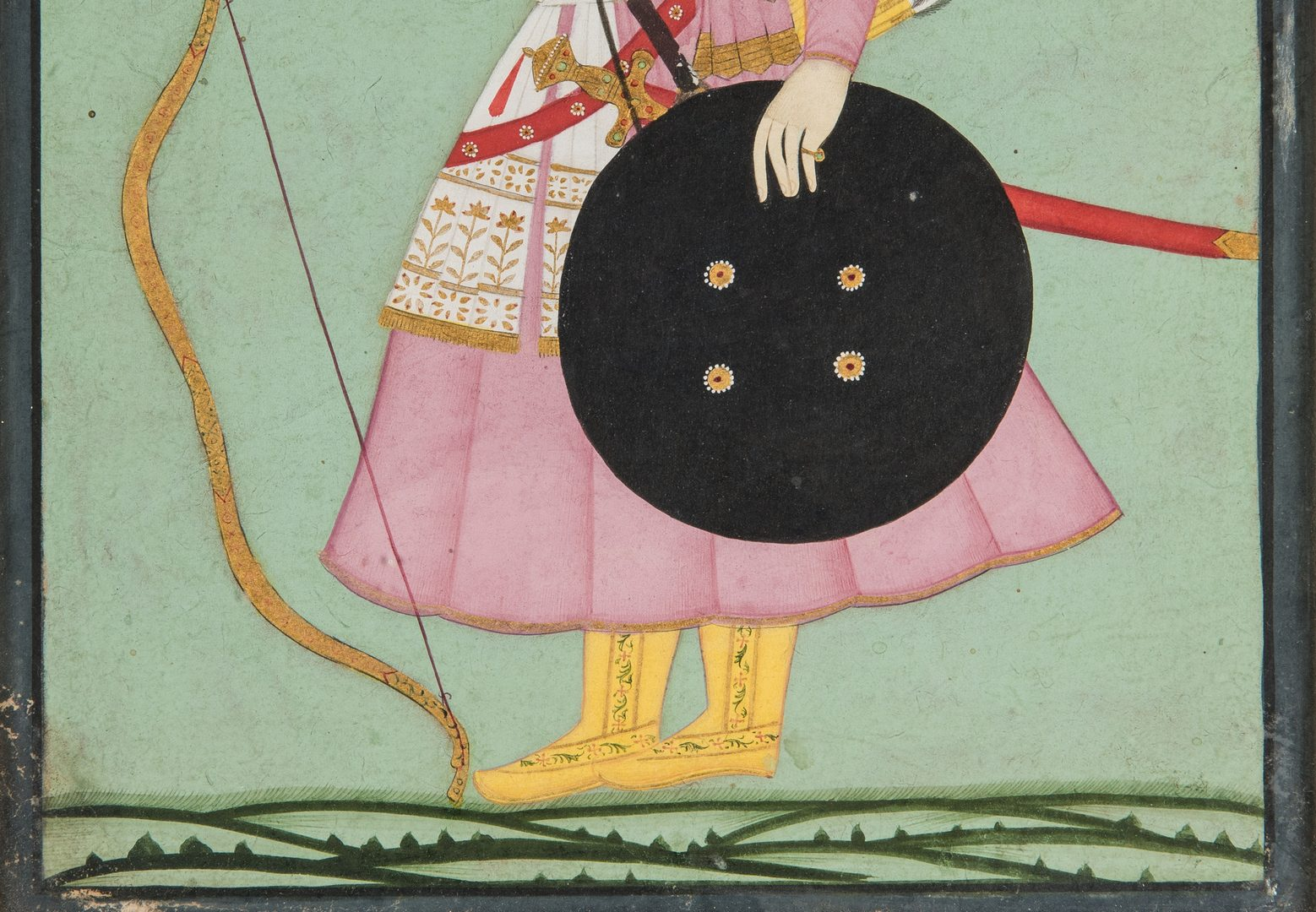 Lot 239: 2 Indian Watercolor Paintings, Mughal Noblemen