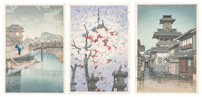 Lot 242: 3 Japanese Shin-hanga Prints, incl. Kawase, Shiro
