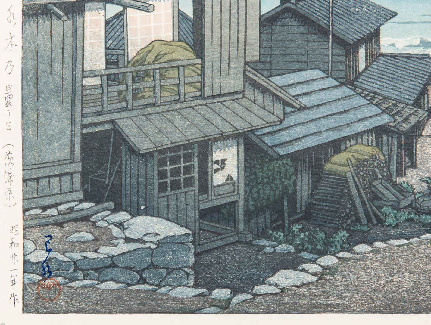 Lot 243: 2 Hasui Kawase Woodblock Prints