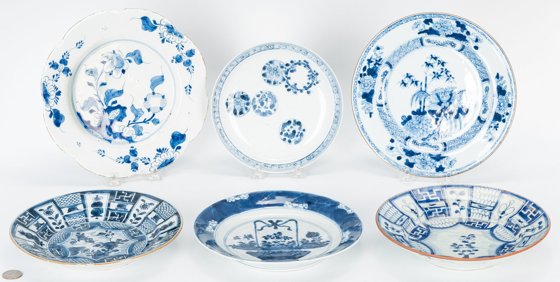 Lot 248: 6 items Blue and White Porcelain- Asian and Delft