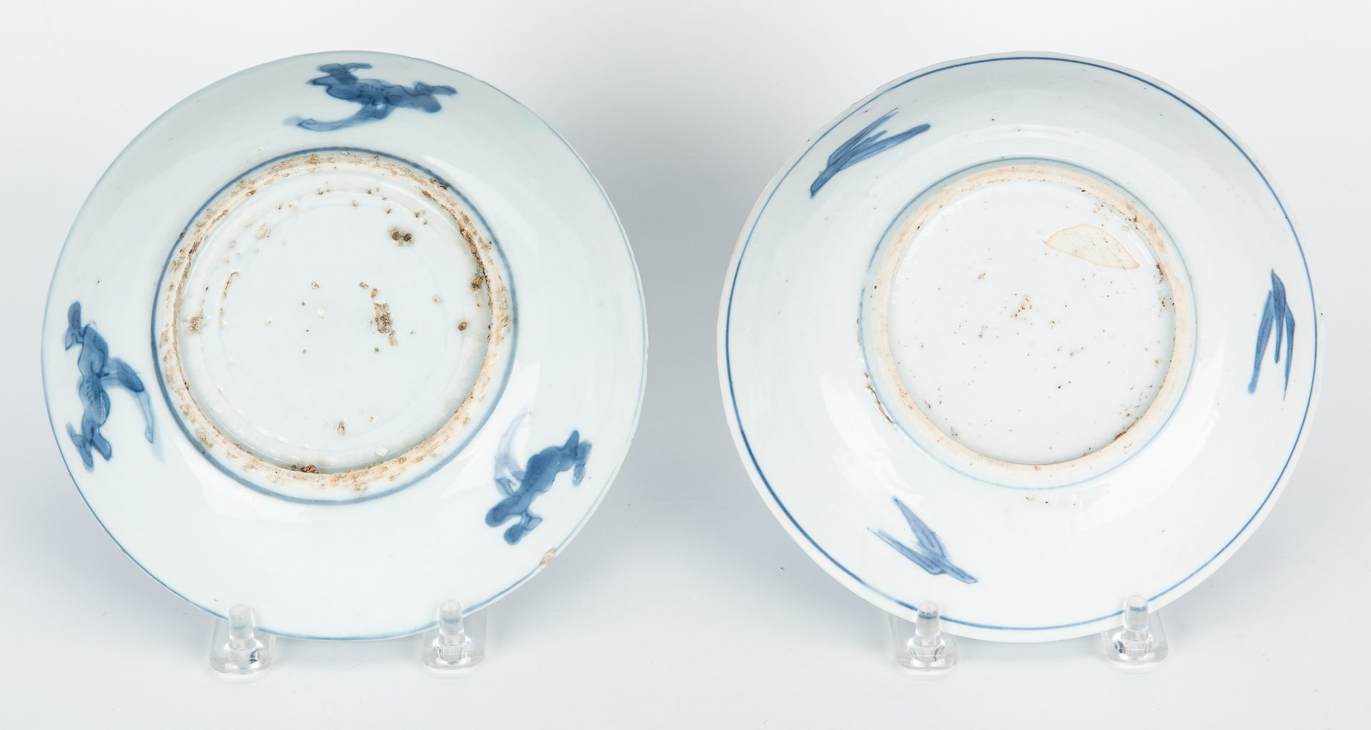 Lot 24: Chinese Saucers & Tea Caddy, 5 items