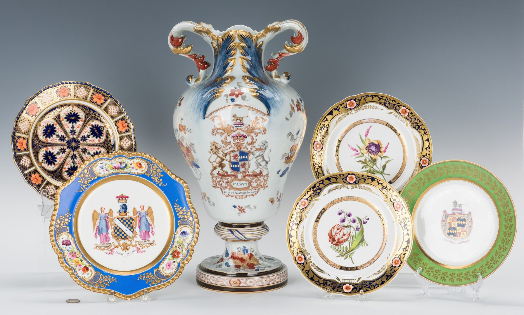 Lot 254: Armorial Urn, Plates incl. Northumberland
