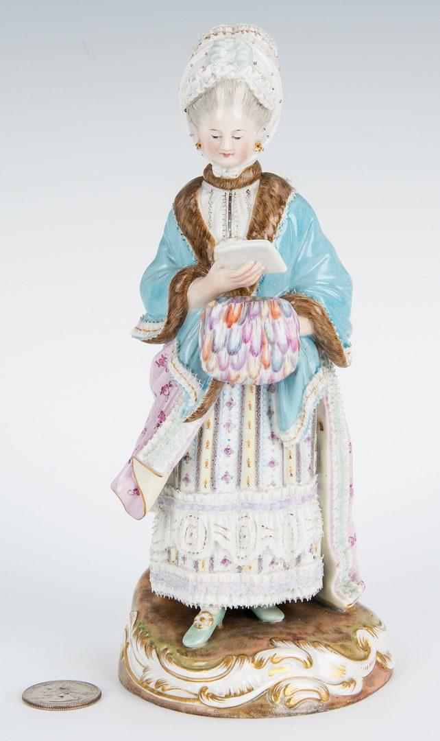 Lot 267: German Meissen Porcelain Figure of a Lady