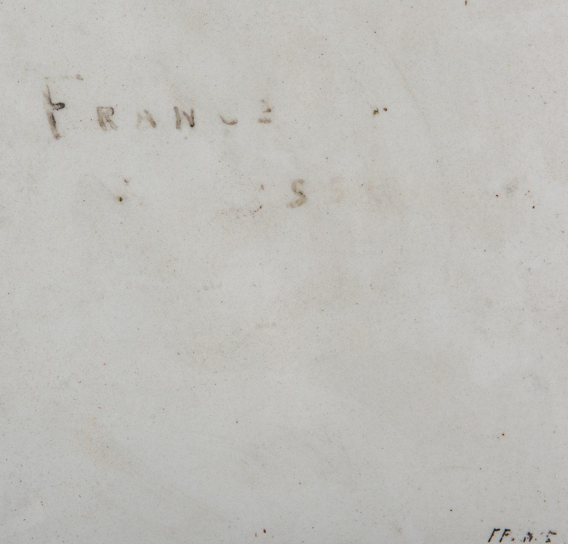 Lot 268: Framed French Porcelain Plaque