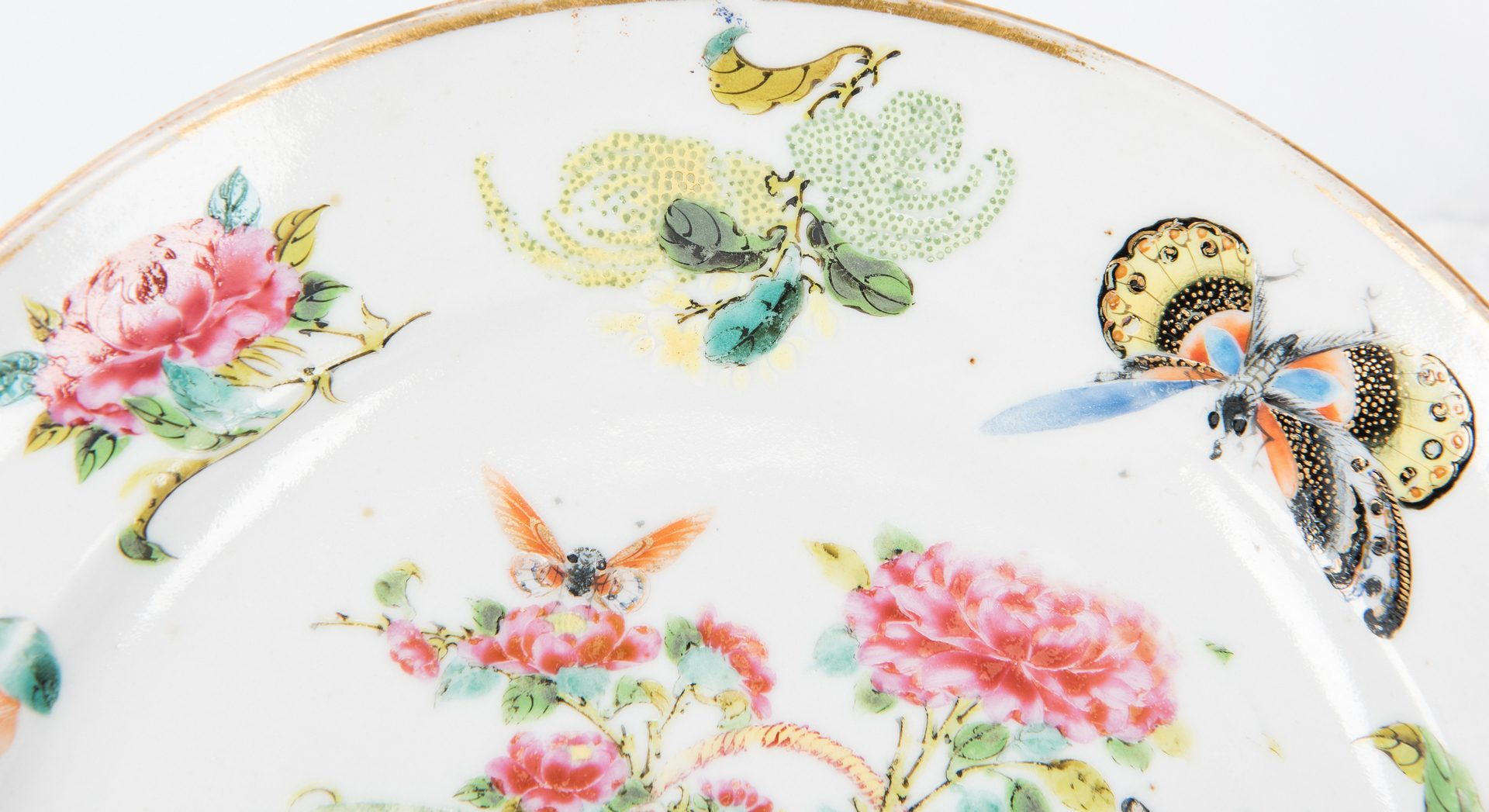 Lot 26: 6 Chinese Export Porcelain Dessert Plates