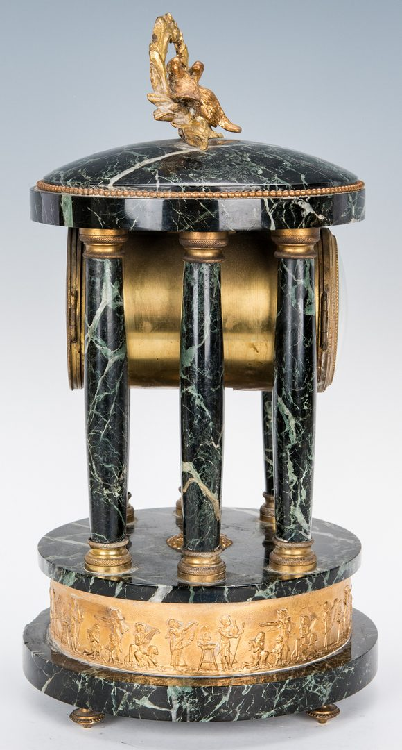 Lot 272: 3-piece French Marble Clock Garniture Set