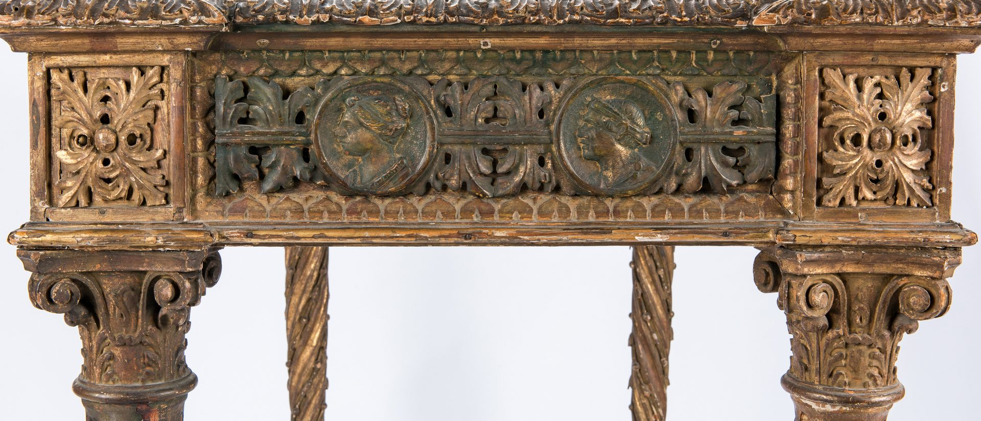 Lot 276: Italian Baroque style Carved Writing or Pier Table