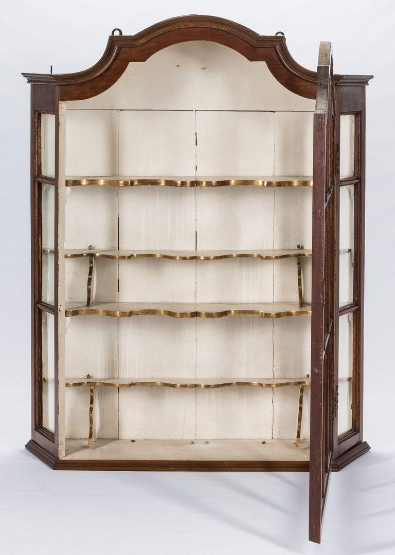 Lot 277: Continental Baroque Display Cabinet